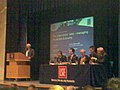 Sir Howard Davies introduces the London School of Economics debate 2006.jpg