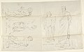 "Sketches of Five Statues- ""Love,"" ""Aristide, ""Putto with a Cat,"" ""Psyche,"" and ""Putto with a Dog"" MET DP804260.jpg"