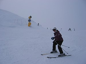 Coronet Peak - Skier at Coronet Peak