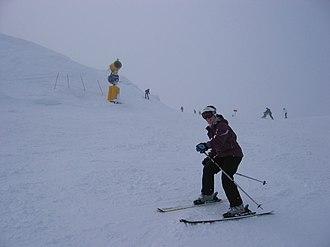 Coronet Peak - Skier at Coronet Peak