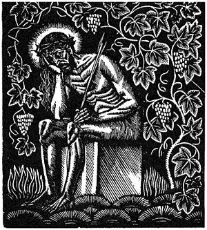 Pensive Christ -  Chrystus Frasobliwy (Pensive Christ) by Władysław Skoczylas
