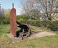 Skulptur Märkischer Platz (Mitte) Bertolt Brecht&Igael Tumarkin&19912.jpg