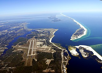 Naval Air Station Pensacola - Aerial view of NAS Pensacola taken from the west