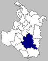Map of Slunj municipality within Karlovac County