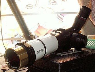 Solar telescope - Example of amateur solar telescope equipped with a hydrogen-alpha filter system.