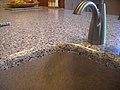 Solid Surface Top Seamless Integral Kitchen Sink.JPG