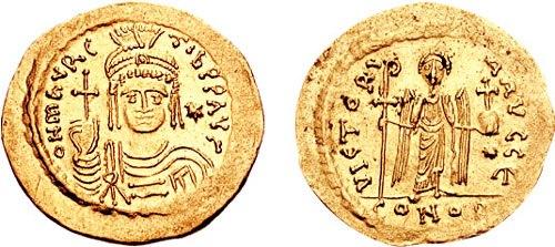 Solidus-Maurice Tiberius-sb0481