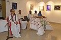 Somendranath Bandyopadhyay Addressing - Biswatosh Sengupta Solo Exhibition Inauguration - Kolkata 2015-07-28 3250.JPG