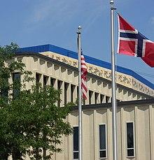NorwayUnited States Relations Wikipedia - Norway to usa map