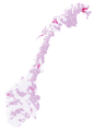 Sosialistisk venstreparti results by municipality Norwegian parliamentary election 2009.svg