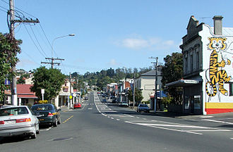 Caversham, New Zealand - South Road, Caversham, looking west towards the start of the Caversham Valley