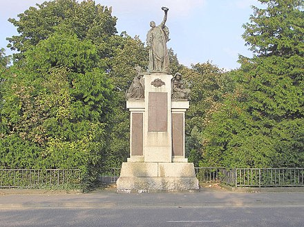 Boer War memorial to the men of the Inniskilling Fusiliers in Omagh