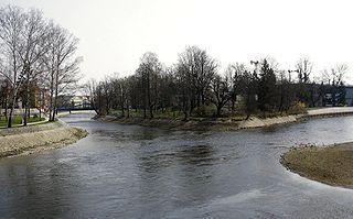 Malše river in the Czech Republic
