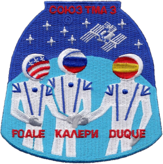 Pedro Duque - Image: Soyuz TMA 3 Patch