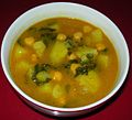 Spanish Potato, Chard & Garbanzo Bean Soup (9099182746).jpg