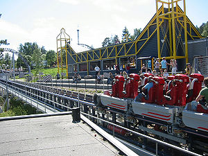 Roller coaster elements - Speed Monster (2006), at Tusenfryd of Norway, prominently features a launch track.