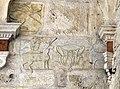 Spoleto, duomo, esterno, portico, frammento di lastra forse longobarda.jpg