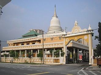 Buddhism in Malaysia - Sri Lanka Buddhist Temple (from Lorong Timur), Sentul, Kuala Lumpur