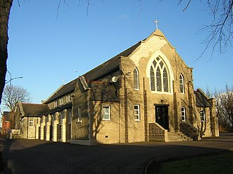 Viewpark - Image: St. Columba's RC Church on Old Edinburgh Road, Viewpark geograph.org.uk 107063