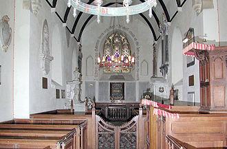 Knowlton, Kent - Image: St Clement church, Knowlton, Kent