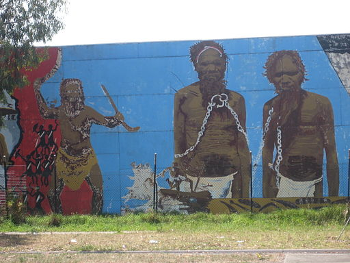 St Georges Road Aboriginal history mural 2