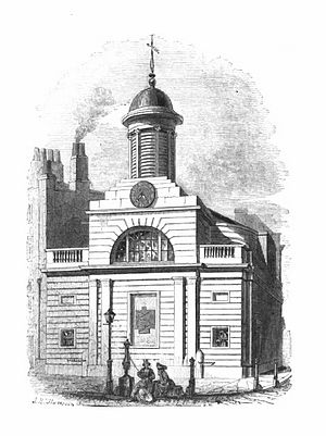 St Martin Outwich - The church in the early 19th century