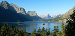 Montana - St. Mary Lake in Glacier National Park