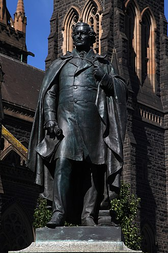 Daniel O'Connell - Statue of Daniel O'Connell outside St Patrick's Cathedral, Melbourne