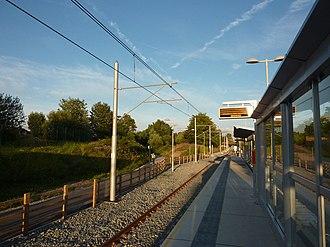 St Werburgh's Road tram stop - Image: St Werburgh's Road Metrolink station, Chorlton geograph.org.uk 2553190