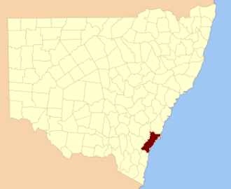 St Vincent County - Location in New South Wales