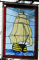Stained glass pub sign, The Victory - geograph.org.uk - 739658.jpg