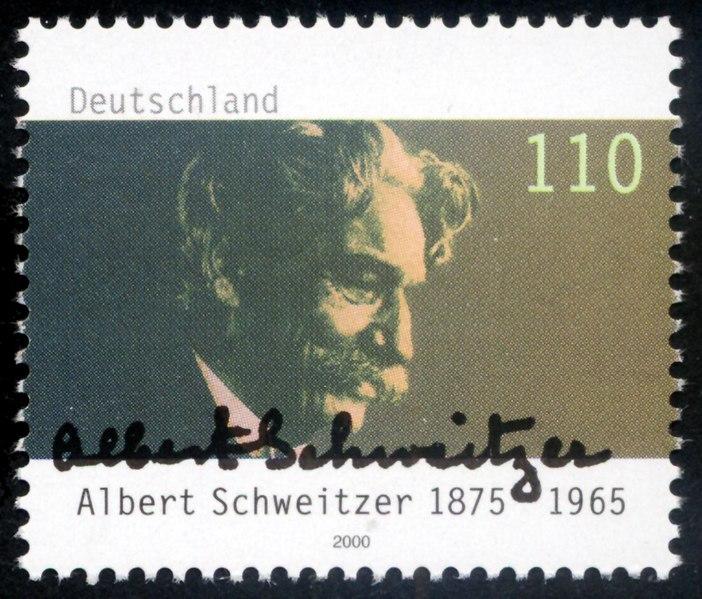 Archivo: Sello Alemania 2000 Albert MiNr2090 Schweitzer.jpg