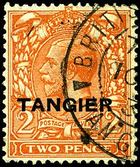 Stamp UK Tangier 1927 2p.jpg