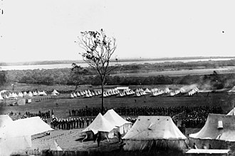 Fort Lytton - Image: State Lib Qld 1 44011 Aerial view of the military camp at Lytton, near the mouth of the Brisbane River