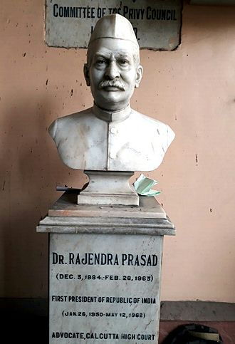 Rajendra Prasad - Statue of Dr. Rajendra Prasad, Calcutta High Court.