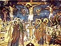 Stavronikita Monastery Katholikon Church Crucifixion Fresco, Theophanes the Cretan, 1545 - 1546.jpg