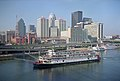 Steamboat Delta Queen and downtown buildings Louisville Kentucky USA Ohio River mile 604 July 2005 file a5g004.jpg