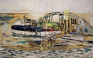 Stefan Ettlinger - Stefan Ettlinger, Atlantik, 2006, 200 cm x 320 cm, oil  and egg tempera on canvass