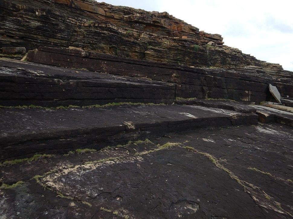 Step-like rock formations at Sanninudai