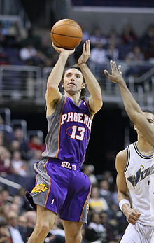 d892ffea0 Nash takes a jump shot while with the Suns. He is considered one of the  best shooters in NBA history.