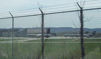 Stewart International Airport - The C-5's at the ANG base, as seen from Route 17K
