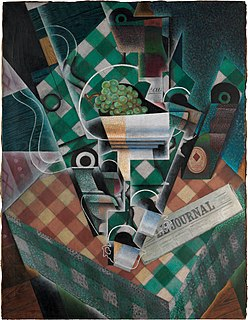 <i>Still Life with Checked Tablecloth</i> painting by Juan Gris