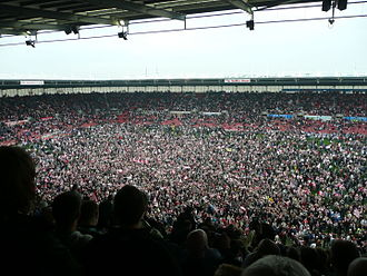 Stoke City F.C. - Stoke City fans celebrate following promotion to the Premier League, 4 May 2008