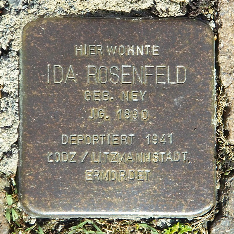 Stolperstein Ida Rosenfeld Creglingen SDIM0411.jpg
