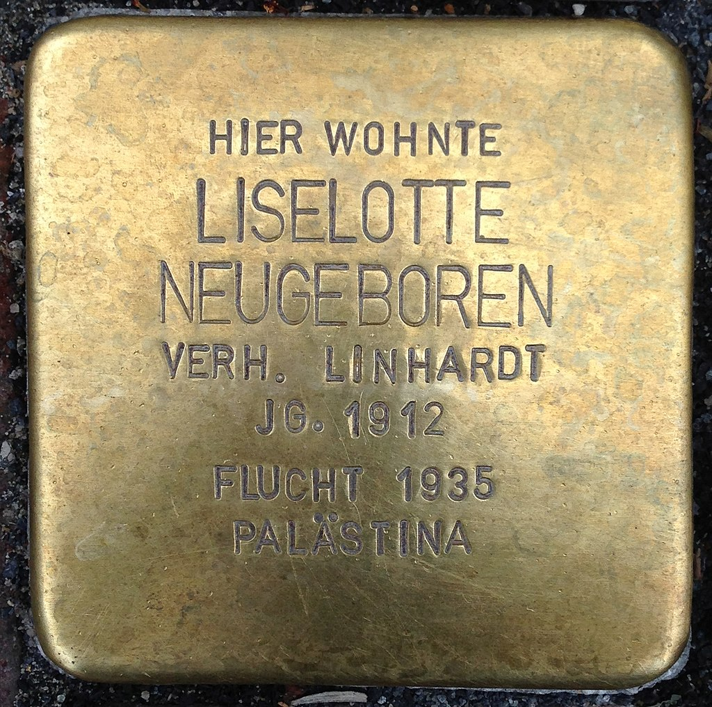 Stolperstein Kleve Große Straße 90 Liselotte Neugeboren
