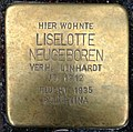 Stolperstein Kleve Große Straße 90 Liselotte Neugeboren.jpg