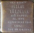 Stumbling block for Helene Lützeler (Im Dau 12)