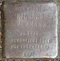 Stumbling block for Richard Hermann (Frankstrasse 12)