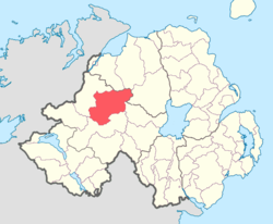 Location of Strabane Upper, County Tyrone, Northern Ireland.
