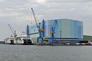 Stralsund, Volkswerft (2012-06-28), by Klugschnacker in Wikipedia (1).JPG
